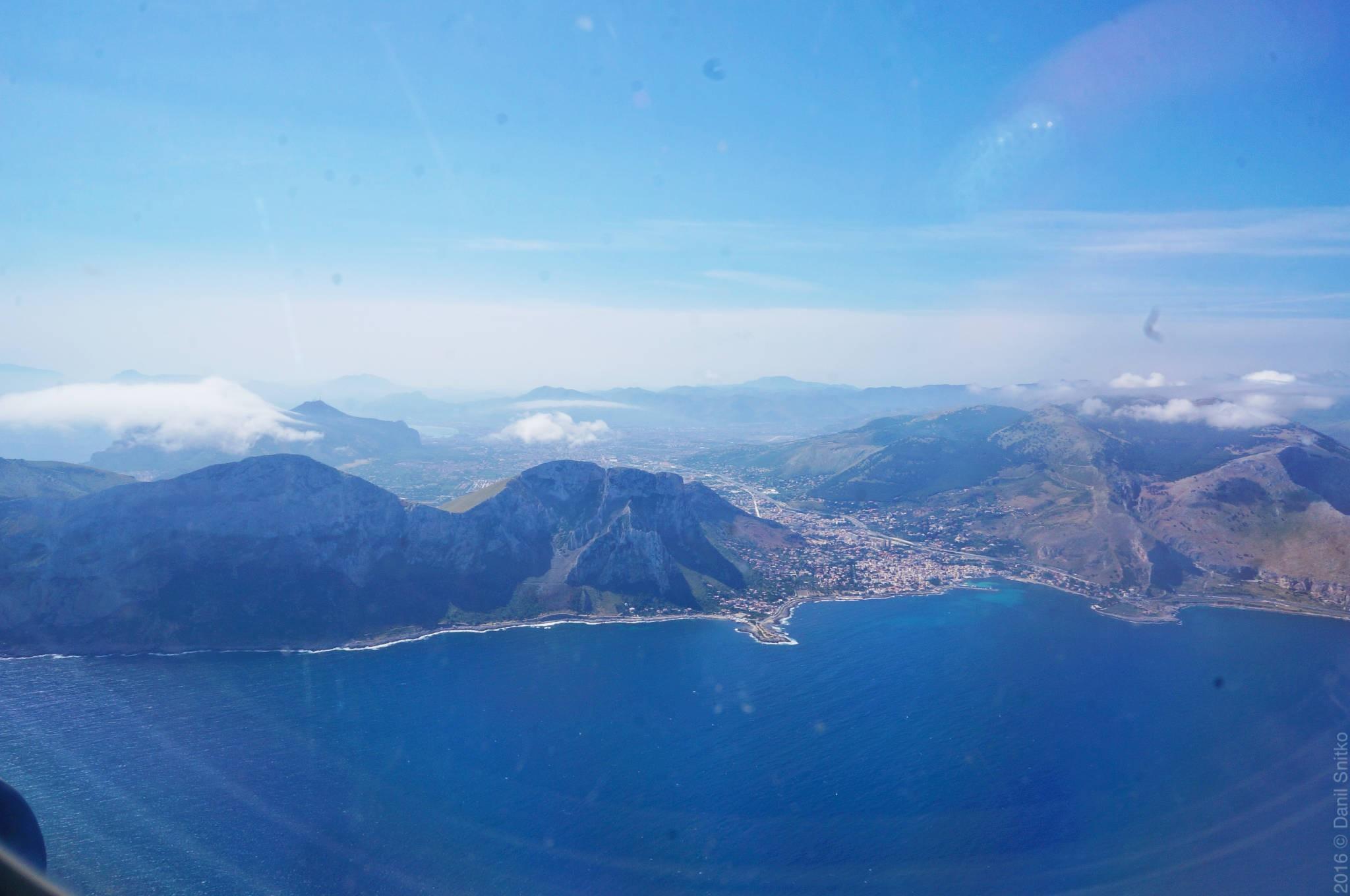 Вид Сицилии с воздуха